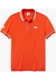 Camisa Polo Lacoste Sport Regular Masculina - Masculino-Vermelho+Off White