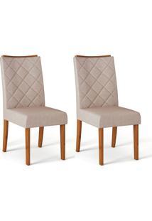 Conjunto Com 2 Cadeiras De Jantar Sara Telha E Creme