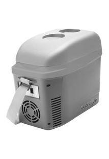Mini Cooler 2 7L Cinza Fosco Com Porta Copos 12V Com Alca - Tv013 Tv013