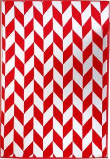 Tapete Andino Geométrico Iii Retangular Polipropileno (150X200) Vermelho