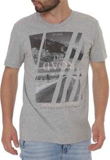 Camiseta Habana Manga Curta Masculina - Masculino-Cinza