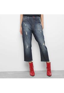 eb9d377e4 ... Calça Jeans Carmim Media Tomboy Muriel Rasgos Feminina - Feminino-Jeans