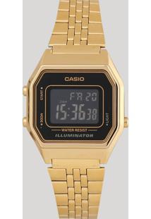 Relógio Digital Casio Feminino - La680Wga1Bdf Dourado
