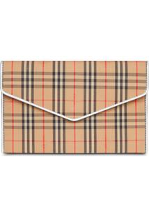 Burberry Clutch Xadrez - Neutro