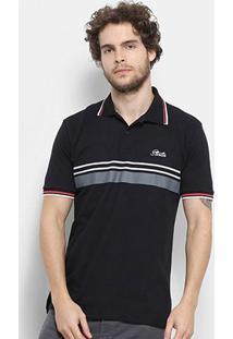 Camisa Polo Starter Especial Bicolor Masculina - Masculino-Preto