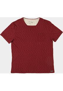 Camiseta Flamê Kohmar Manga Curta Masculina - Masculino-Bordô