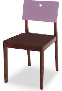 Cadeira Flip Cor Cacau Com Encosto Lilas - 31131 Sun House