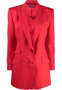 Dolce & Gabbana Blazer Com Lapelas E Abotoamento Simples - Vermelho