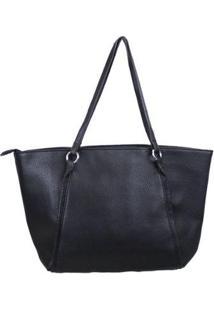 Bolsa Shopping Bag Emporionaka Clássica Feminina - Feminino-Preto