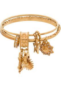 Versace Bracelete Com Pingente - Dourado