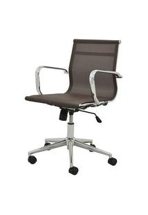 Cadeira Sevilha Eames Baixa Cromada Tela Cafe - 38050 Café