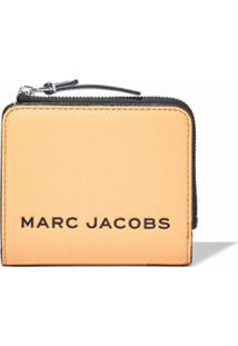 Marc Jacobs Carteira The Bold Color Block Mini Com Zíper - Laranja