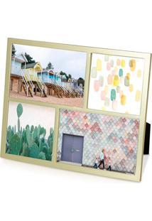 Porta-Retrato Senza Multi Fotos Dourado