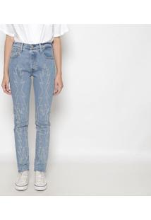 Calça 501® Skinny Com Pespontos- Azullevis