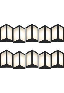 Arandela Triangular Preto Kit Com 10 Casah - Preto - Dafiti