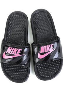Chinelo Nike Benassi Jdi Slide Feminino - Feminino-Pink+Preto