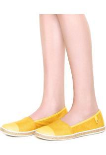 Alpargata Cravo & Canela Textura Amarela