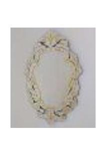 Espelho Veneziano Decorativo, Sala, Margarida Plus Amarelo 61X88