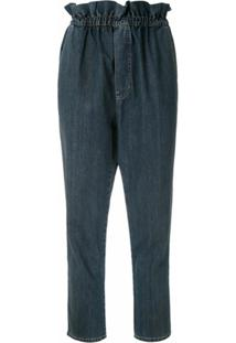Framed Calça Jeans Cozy Clochard Cropped - Azul