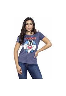 Camiseta Sideway Looney Tunes Frajola - Azul Marinho