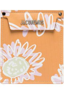 Jacquemus Clutch Porte Floral - Laranja
