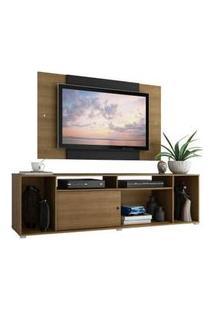 Rack Madesa Cancun E Painel Para Tv Até 58 Polegadas Rustic/Preto
