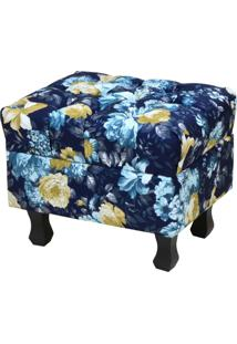 Puff Decorativo Lyam Decor Paris Azul Estampado