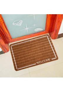 Capacho Carpet Welcome Marrom