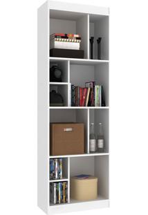 Estante Para Livros 3 Prateleiras Com Nichos Ho-2927 Branco - Hecol