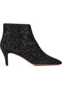 P.A.R.O.S.H. Ankle Boot Com Brilho - Preto