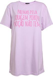 Camiseta Fiveblu Palmas Pela Coragem Lilás