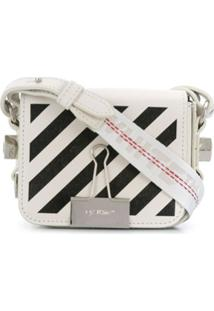Off-White Bolsa Tiracolo Binder Clip Mini - Branco