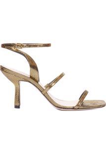 Sandália Feminina Mid New Minimal - Dourado