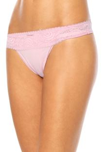 Calcinha Love Secret Tanga Renda Rosa