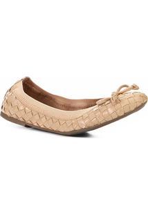 Sapatilha Shoestock Transpassada Feminina - Feminino-Nude