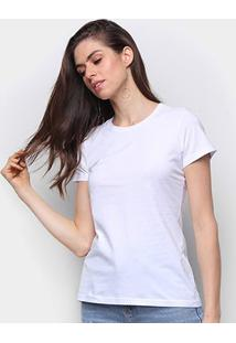 Camiseta Malwee Baby Look Antivirais Feminina - Feminino-Branco