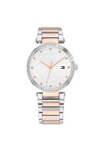 Relógio Tommy Hilfiger Feminino Aço Prateado E Rosé - 1782236