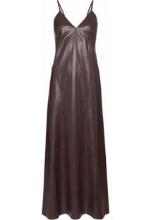 Nanushka Slip Dress Anira Texturizado - Roxo