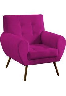 Poltrona Decorativa Beluno Suede Pink Pés Palito - D'Rossi
