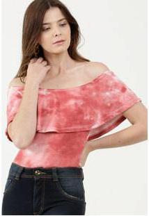 Body Feminino Ombro A Ombro Estampa Tie Dye Marisa