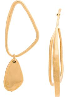 Givenchy Par De Brincos Assimétrico - Dourado