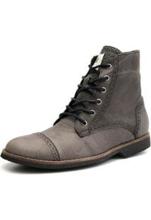 Bota Shoes Grand Detalhe Masculina - Masculino-Cinza