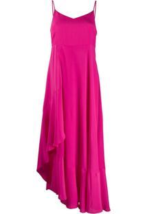 Twin-Set Slip Dress Assimétrico - Rosa