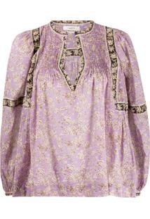 Isabel Marant Étoile Blusa Violette Com Estampa Floral - Roxo