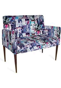 Cadeira Decorativa Mademoiselle Plus 2 Lug Imp Digital 111 Vogue - Kanui