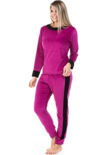 Pijama Dulmar De Plush Aveludado Pink