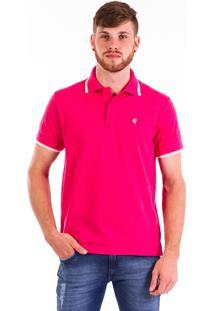 Camisa Polo Carlan Logo Pink