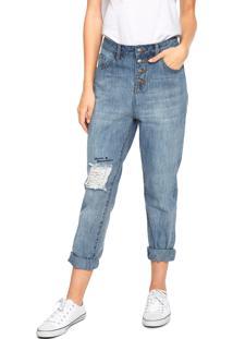 Calça Jeans Roxy Mom Bet Azul - Kanui