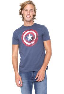Camiseta Cativa Marvel Capitão América Azul
