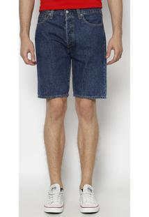Bermuda Jeans 501® Com Botãµes - Azul Escurolevis